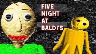 GOLDEN BALDI? | Five Nights At Baldi's (Baldi's Basics Fan Game)