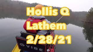 Hollis Q Lathem Reservoir bass fishing