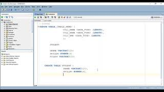 HOW TO CREATE TABLE IN ORACLE