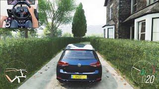500BHP Volkswagen Golf R - Forza Horizon 4 | Logitech g29 gameplay screenshot 4