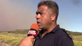 Incendio Epuyen policía colabora con los brigadistas