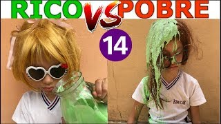 RICO VS POBRE FAZENDO AMOEBA / SLIME #14