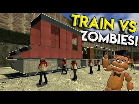 TRAIN VS ZOMBIE APOCALYPSE BATTLE! - Garry's Mod Gameplay - Gmod Train Building