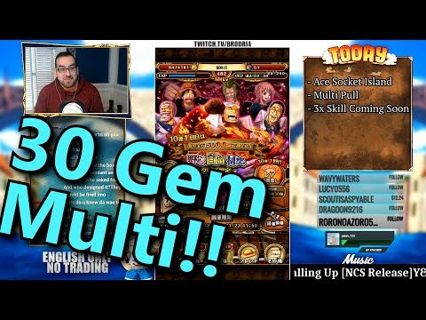 (OPTC Discount Banner!!) 30 Gem Multi Pull | One Piece Treasure Cruise