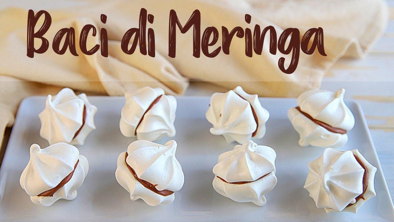 Ricetta Meringhe Semplice.Baci Di Meringa Ricetta Facile Fatto In Casa Da Benedetta Youtube