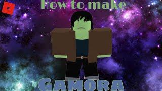 How to make Gamora in Roblox Superhero life 2