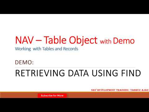 Retrieving data using FIND in Dynamics NAV - Write C/AL code to find record from a Table in NAV