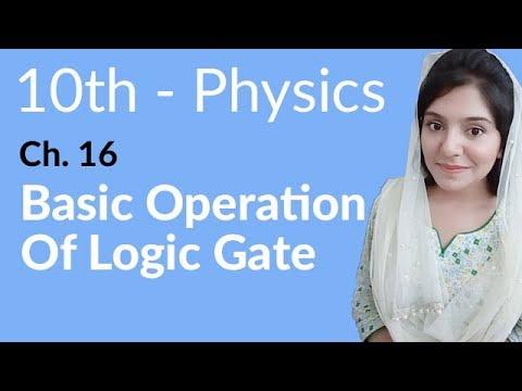 10th Class Physics, Ch 16, Basic Operation of Logic Gates - Class 10th Physics thumbnail