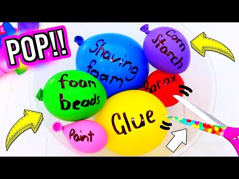 Download Youtube: DIY BALLOON Popping SLIME! Making Slime with Balloons! How to Make POPULAR BALLOON SLIME!