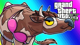 GTA5 Online Funny Moments - Lui's Animal Buddies!