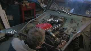 Mitsubishi VR4 6A13TT engine in Ford Anglia 105E First Fire