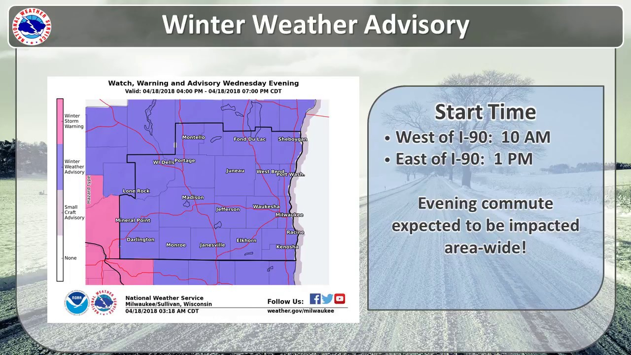 Snow Expected Today--Impacts to the Evening Commute Likely