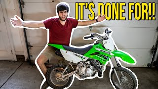 I blew up my PIT BIKE RIGHT BEFORE THE RACE!