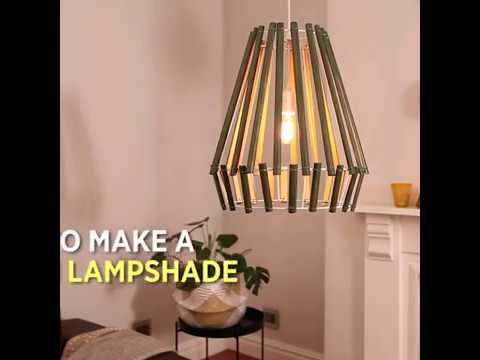 Step-by-step: how to make a wooden lampshade