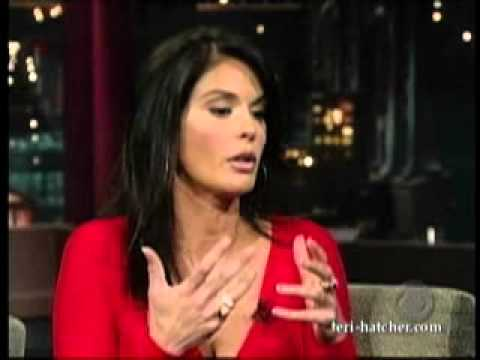 Teri Hatcher on the late Show with David Letterman (2008)