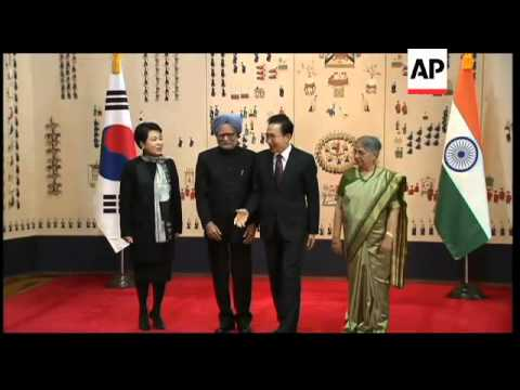 President Lee welcomes Prime Minister Singh