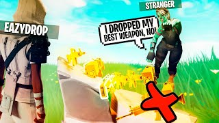 he dropped the WRONG Weapon but... 😨 (Scammer Gets Scammed) In Fortnite Save The World