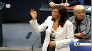 Heftige Auseinandersetzung zwischen Dağdelen und Göring-Eckardt (zur Swoboda-Partei) + ZWISCHENRUFE