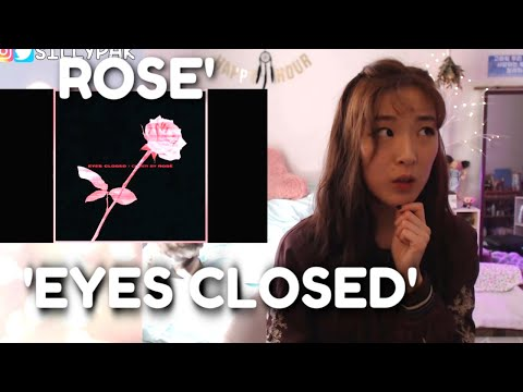 BLACKPINK ROSÉ - EYES CLOSED (Halsey) COVER REACTION