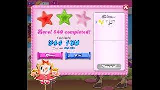 Candy Crush Saga Level 540 ★★ NO BOOSTER