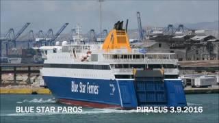 BLUE STAR PAROS noon arrival at Piraeus