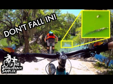 You DO NOT Want to Fall Off These Trails  // Mountain Biking Carter Road Trails in Bartow, Florida