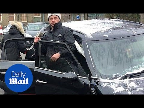 Moment Ant McPartlin emerges from his Mini after car crash - Daily Mail
