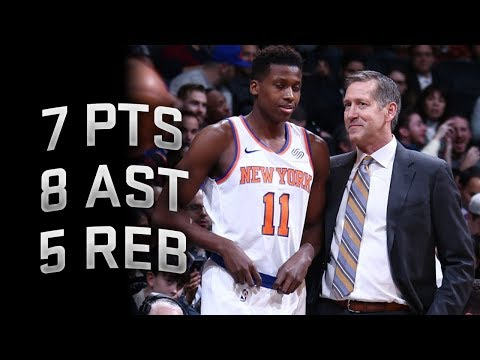 Frank Ntilikina Full Highlights vs Nets 12.14.2017 - 7 Points, 8 Assists, 5 Rebounds