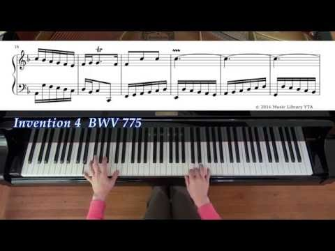 Bach, 2-Part Inventions(complete), BWV 772-786 with sheet music バッハ, 2声のインヴェンション, 全楽譜付き