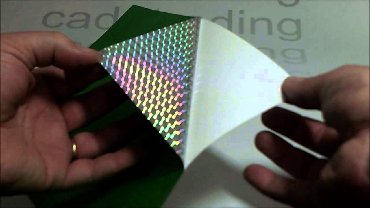 A4 Green Self Adhesive Holographic Plastic Sheet Youtube
