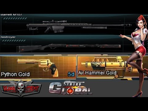 Global Strike/Blood Strike Barrot M107,Destroyer,Air Hammer Gold and Python Gold!!!!