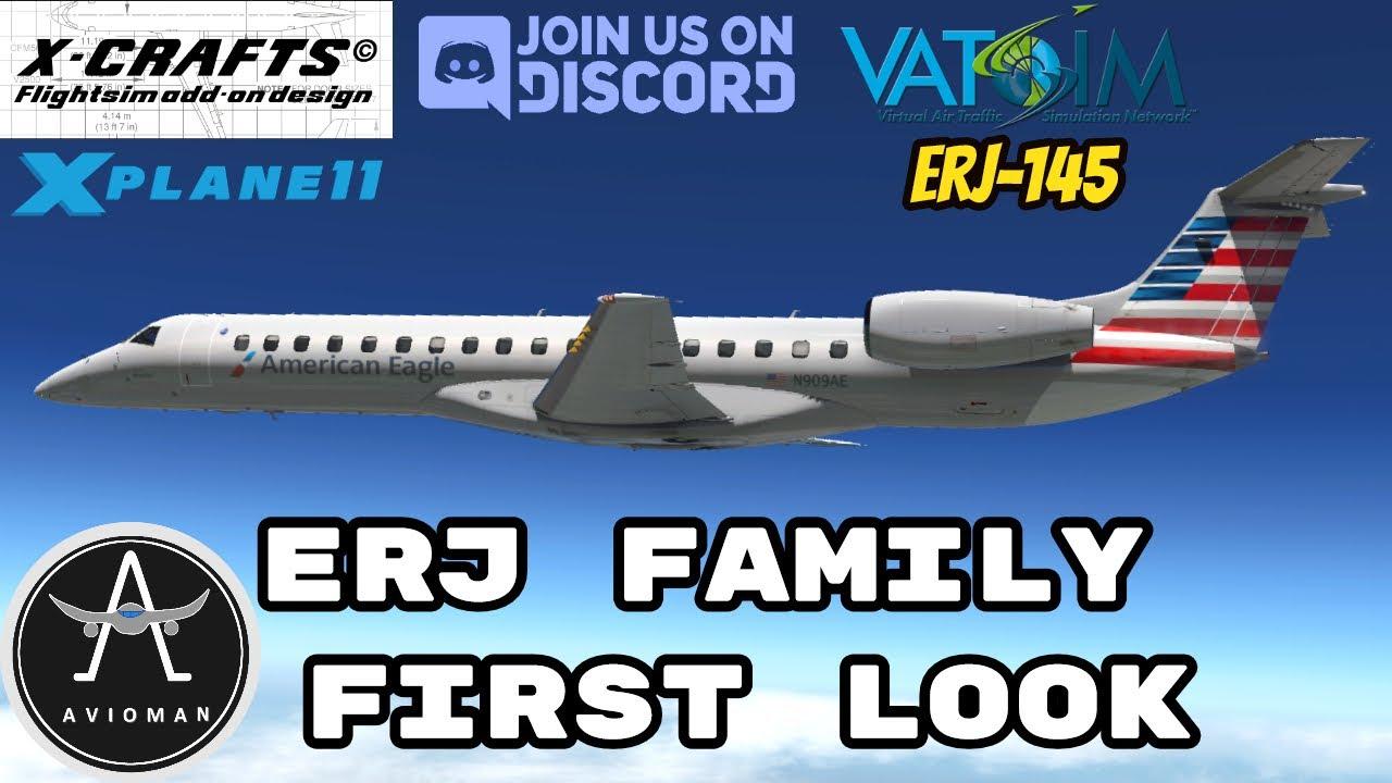 X-Crafts *ERJ FAMILY FIRST LOOK* || KMIA-KPNS || XPLANE 11 || Part 2 ERJ 145