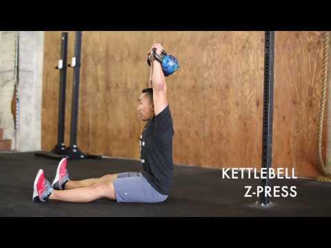 Z-PRESS (barbell, dumbbell, kettlebell)