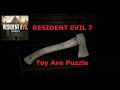 Resident Evil 7 Toy Axe Puzzle