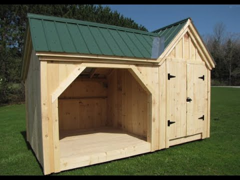 DIY – Easily Build this Firewood & Storage Shed Yourself (Pre Cut Kit or Fully Assembled)