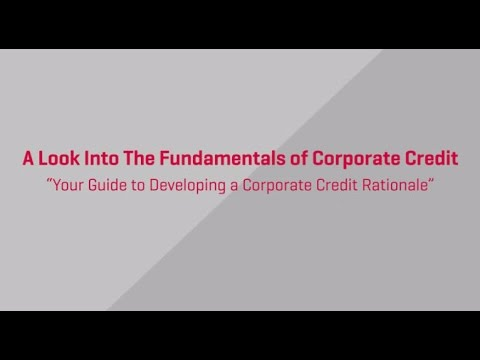 Fundamentals of Corporate Credit