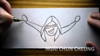 How to draw a iJustine
