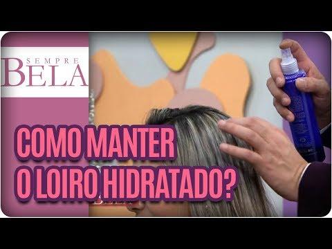 Como Manter O Cabelo Loiro Hidratado?- Sempre Bela (03/12/17)