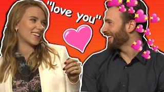 scarlett johansson and chris evans flirting for 8 minutes straight