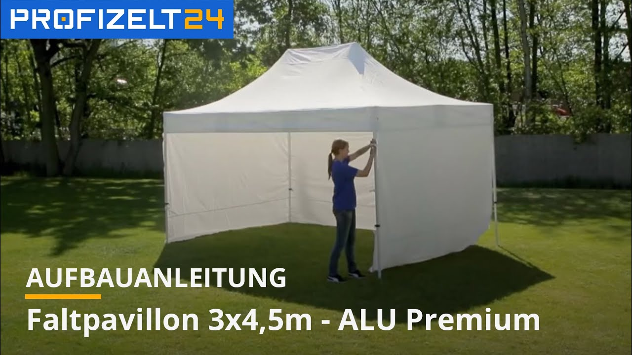 faltzelt faltpavillon partyzelt aufbau 3x4 5m premium. Black Bedroom Furniture Sets. Home Design Ideas