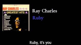 Ray Charles - Ruby - w lyrics