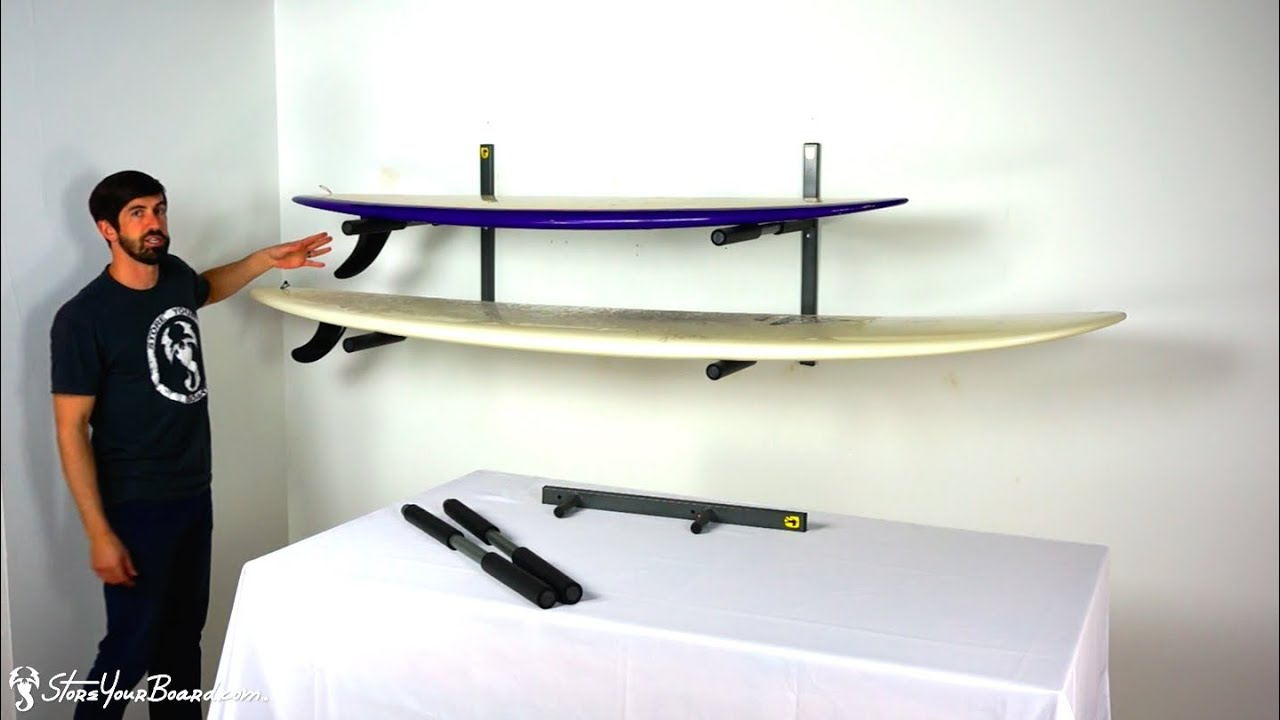 Heavy Duty Metal Wall Surfboard Storage Rack | StoreYourBoard