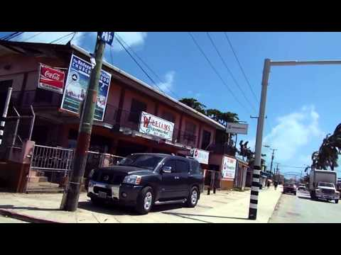 Driving through Belize City, Belize