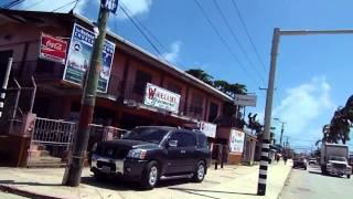 Driving through Belize City, Belize