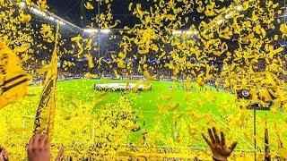 BVB Dortmund - FC Barcelona (0:0) - FESTA COMPLETA DA TORCIDA DO BVB!
