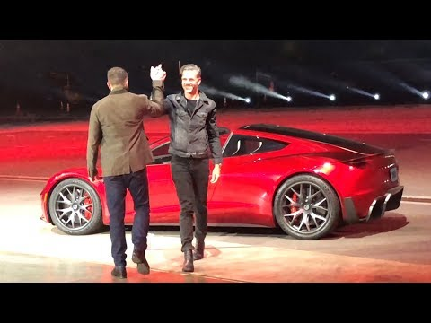 FIRST RIDE in the NEW TESLA ROADSTER!! Semi Truck Event