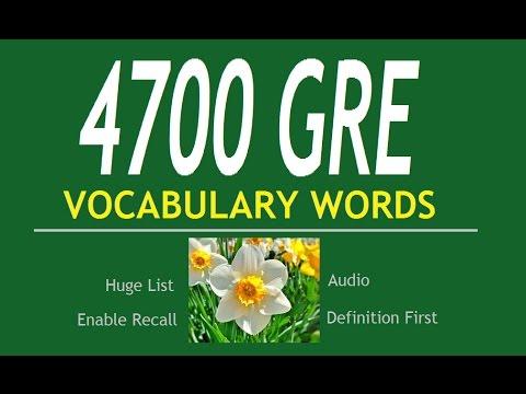 4700 GRE English Vocabulary Words 1 (reverse)