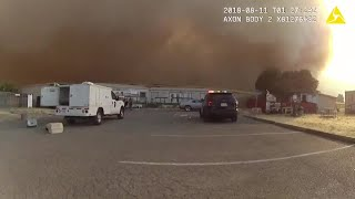 Body Cam Video Released Of Dramatic SPCA Animals Rescue Near Wildfires