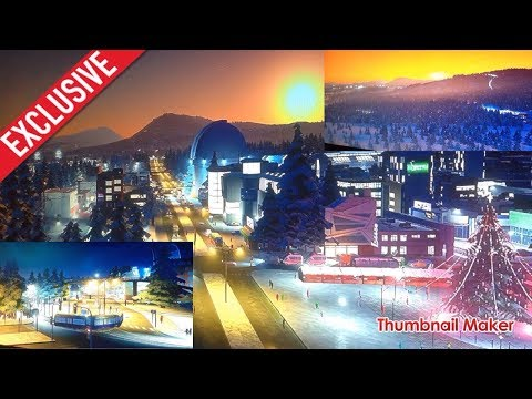 Cities Skyline Snowfall Canadian Town