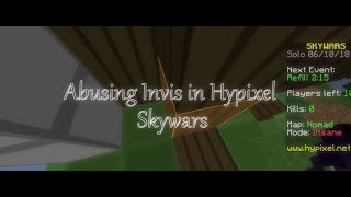 Abusing Invisibility In Hypixel Skywars
